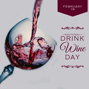Drink Wine Instagram Post