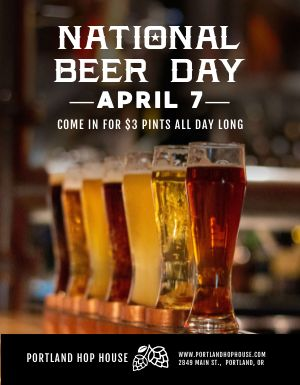 National Beer Day Flyer