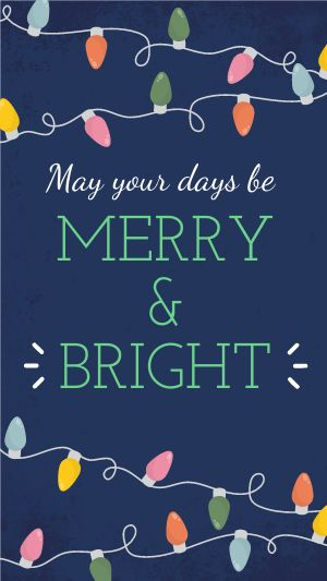Christmas Lights Facebook Story