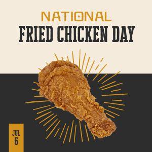 Fried Chicken Instagram Post