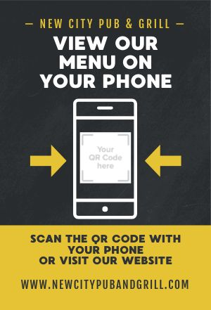 Phone Menu Table Tent