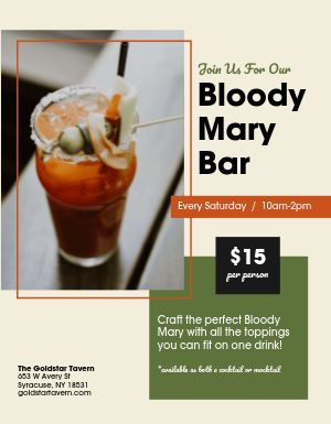 Bloody Mary Bar Sign