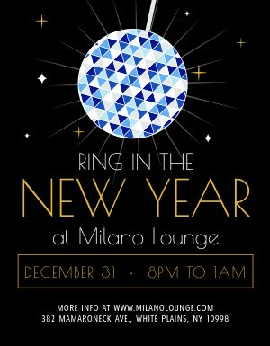 New Years Eve Lounge Flyer