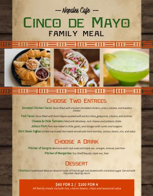 Cinco De Mayo Family Menu