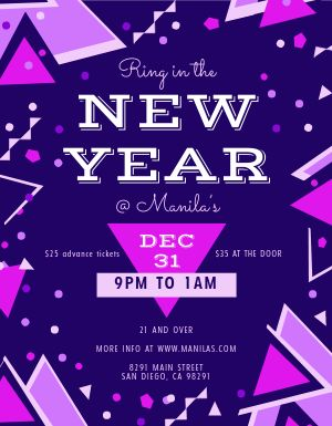 New Years Eve Geometric Flyer