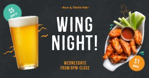 Wing Night Facebook Post