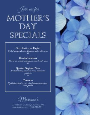 Mothers Day Floral Flyer