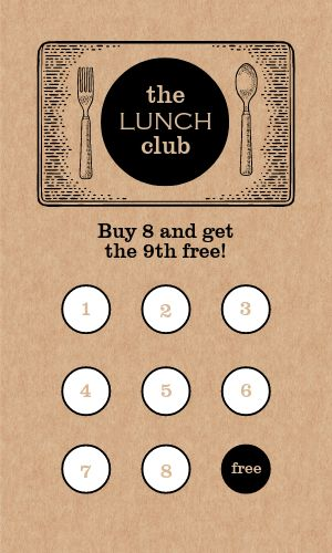 Lunch Loyalty Card