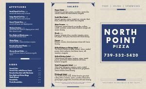 Navy Pizza Takeout Menu
