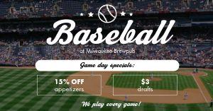 Baseball Facebook Post