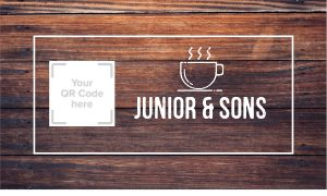 Coffee QR Code Business Card