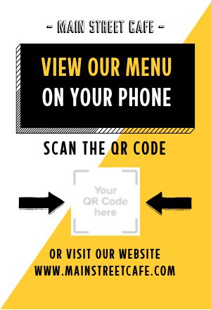 QR Code Table Tent