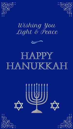 Happy Hanukkah Instagram Story