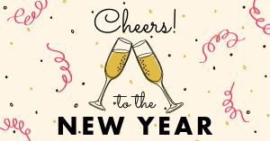 New Years Toast Facebook Post
