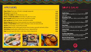 Mexican Rainbow Digital Menu Board