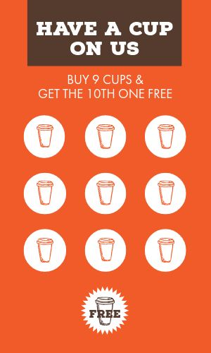 Coffee Cup Loyalty Card