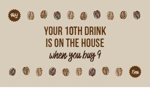 Coffee Store Loyalty Card