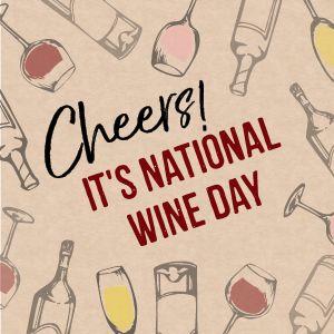Wine Day Instagram Post