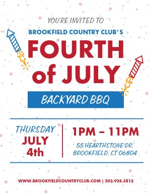 Fourth of July BBQ Flyer
