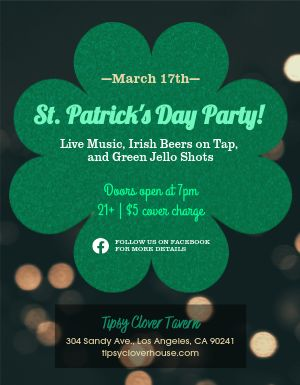 St Patricks Party Flyer