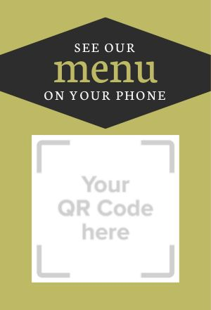 QR Code Menu Table Display