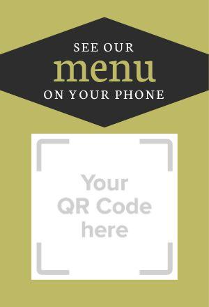 QR Code Menu Table Display