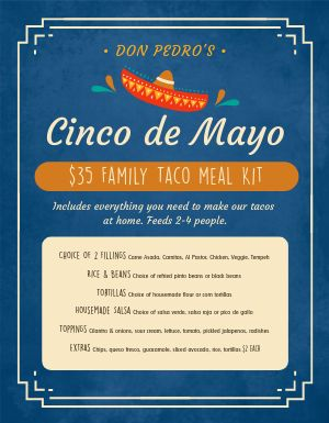 Cinco De Mayo Meal Kit Menu