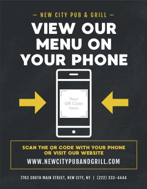 Mobile Menu Flyer