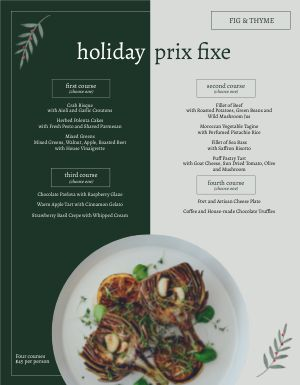Dualcolor Christmas Menu