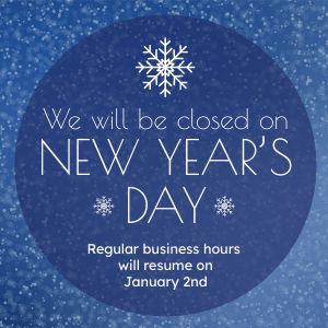 Closed for New Years Instagram Post