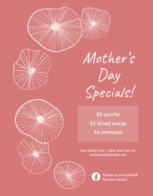 Mothers Day Special Menu Flyer