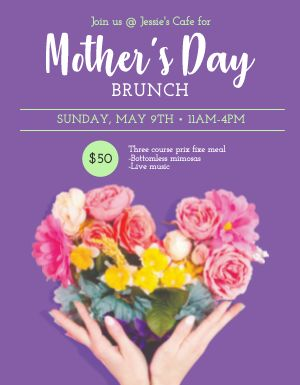 Mothers Day Brunch Signage