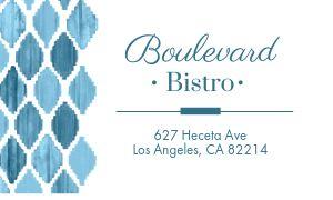 Bistro Restaurant Card