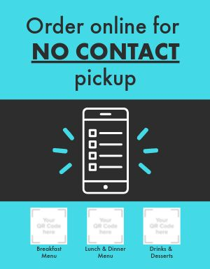 No Contact Pickup Signage