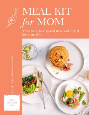 Mothers Day Meal Kit Flyer