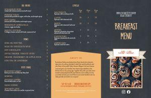 Breakfast Eatery Folded Menu
