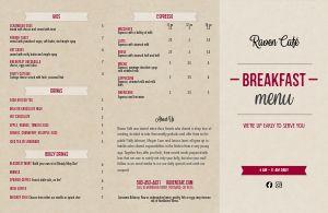 Breakfast Folded Menu