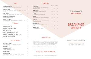 Modern Breakfast Folded Menu