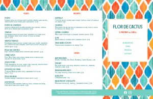 Mexican Colorful Folded Menu