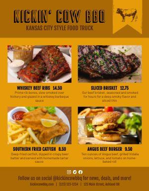 BBQ Style Food Truck Menu