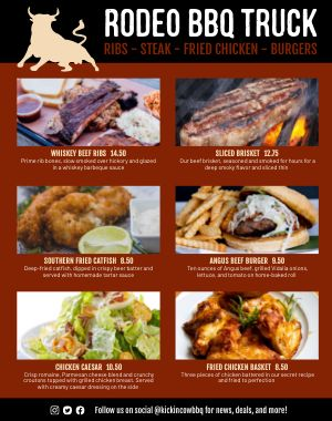 BBQ Food Cart Menu Poster