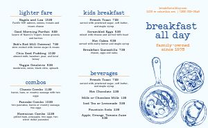 Breakfast All Day Takeout Menu