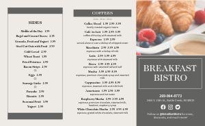Breakfast Restaurant Takeout Menu