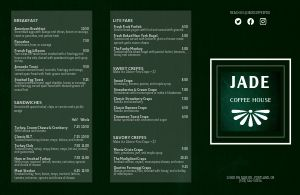 Jade Coffee Folded Menu