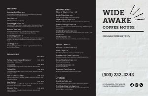 Granite Coffee Folded Menu