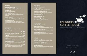 Navy Coffee Folded Menu