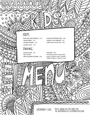 Kids Coloring Menu