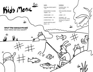 Outdoor Kids Menu