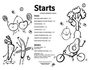 Vegetable Kids Menu