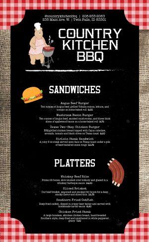 Country BBQ Menu